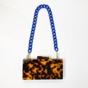 Closet Rehab Bags - Chain Link Short Acrylic Purse Strap in Blue